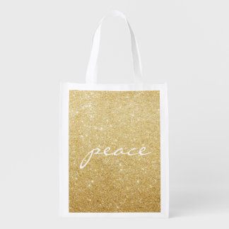 Reusable Tote - Glittered Peace Market Tote