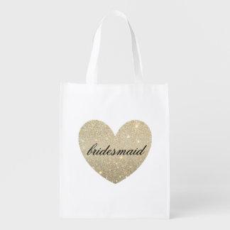 Reusable Tote - Heart Fab bridesmaid