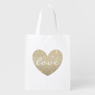 Reusable Tote - Heart Love Market Tote