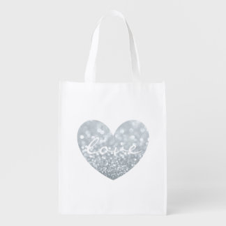 Reusable Tote - Heart Love Reusable Grocery Bags