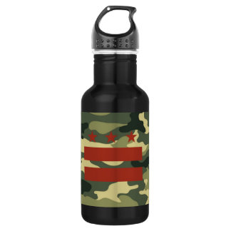 Reusable Water Bottle with DC Camo Flag