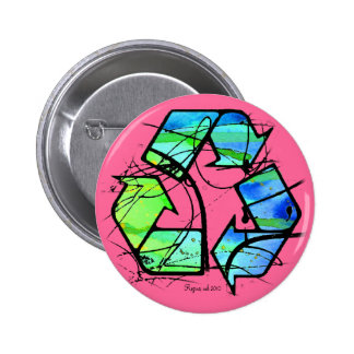 Reuse, Reduce, Recycle Earth Day Gifts 6 Cm Round Badge