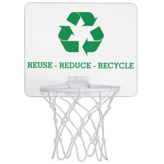 Reuse Reduce Recycle Mini Basketball Hoop