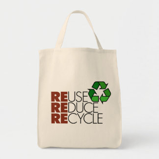 Reuse Reduce Recycle totebag
