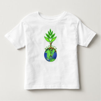 Reuse Reduce Recycle Tree Earth Globe Toddler T-Shirt