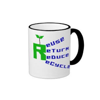 Reuse Return Reduce Recycle Coffee Mug