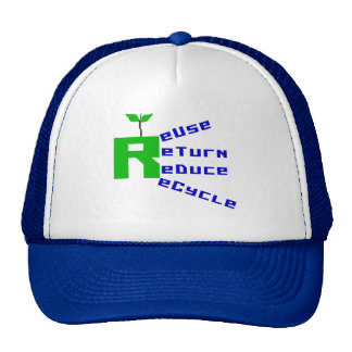 Reuse Return Reduce Recycle T-shirts and Gifts Mesh Hats