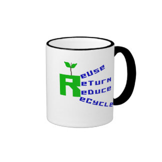 Reuse Return Reduce Recycle T-shirts and Gifts Mug