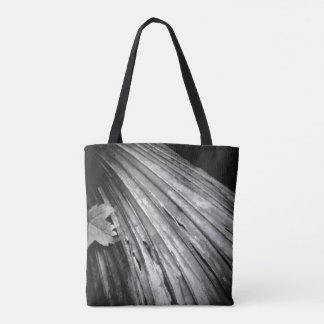 Reuseable Black-and-White Tote Bag