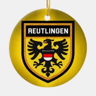 Reutlingen Flag Ceramic Ornament