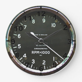 """Rev counter"" design wall clocks"