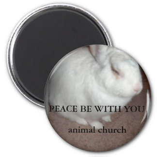 Rev Rabbitt s Peace Be With You Fridge Magnets