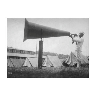 Reveille - Navy Training, Seattle (ca 1917) Stretched Canvas Prints