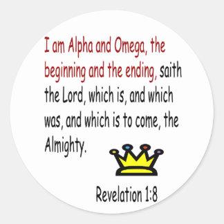 Revelation 1:8 stickers