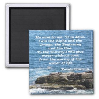 Revelation 21:6 magnet