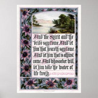 Revelation 22 17 Print