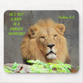 Revelation 5:5 with Male Lion Not A Baby Anymore Mouse Pad