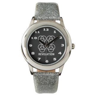 Revelation Kid's Silver Glitter Watch