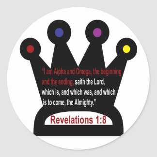Revelations 1: 8  the crown stickers