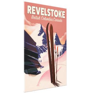 Revelstoke  British Columbia, Canada Ski poster Canvas Print