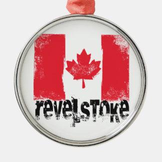Revelstoke Grunge Flag Metal Ornament