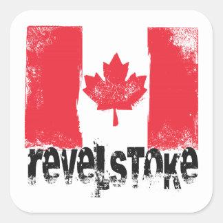 Revelstoke Grunge Flag Square Sticker