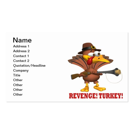 Revenge Turkey Business Card