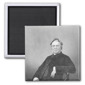 Reverend Hugh Stowell, engraved by D. J. Pound Square Magnet
