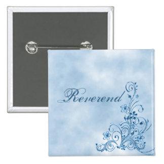 Reverend Square Button Sky Blue Elegance