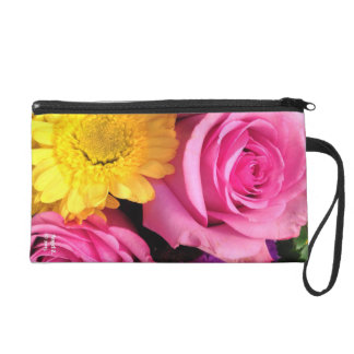 Reversable Flower Clutch Wristlet Clutches