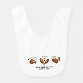 Reverse Basset Hound Baby Bibs