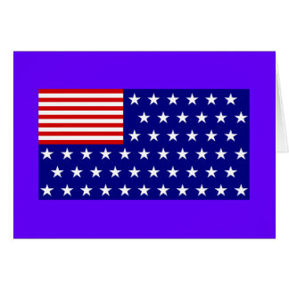 Reverse Color American Flag Greeting Card