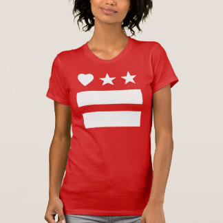 Reverse HeartDC on Red T-shirt