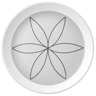 Reverse Lathe Flower 2 Plate
