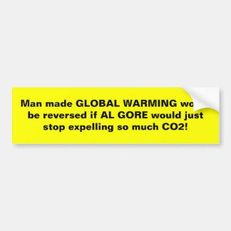 Reverse Man Made Global Warming! Bumper Stickers