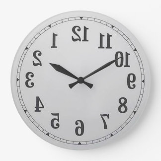 Reverse Numbers Wall Clock