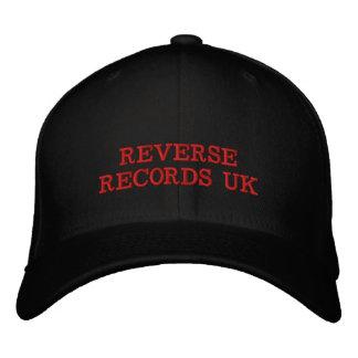 REVERSE RECORDS UK (BLOOD RED) UNISEX BASEBALL CAP