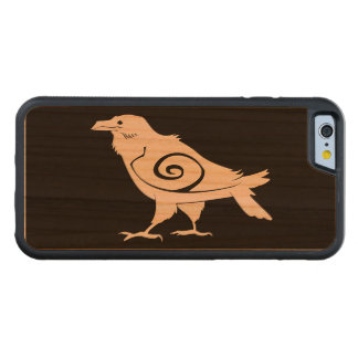 Reverse Tribal Raven Cherry iPhone 6 Bumper Case