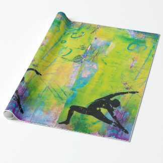 Reverse Warrior Yoga Girl Wrapping Paper