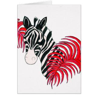 Reverse Zebra Greeting Card