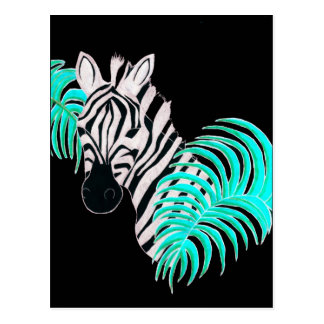 Reverse Zebra - Inverted Postcard