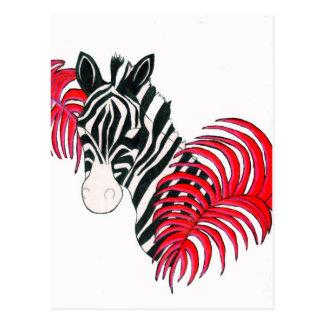 Reverse Zebra Postcard