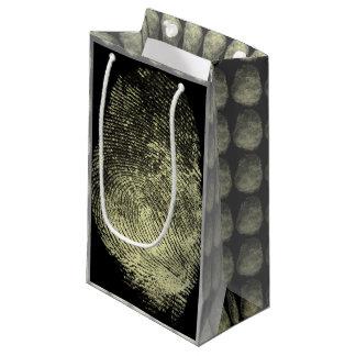 Reversed Loop Fingerprint Small Gift Bag