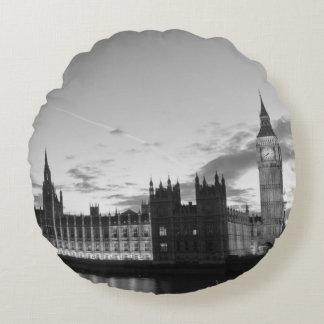 Reversible Big Ben/Vintage London Map Throw Pillow