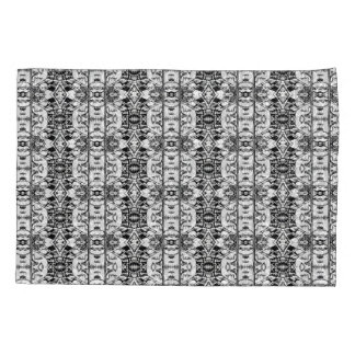 Reversible Black White Lace Abstract Pillow Case