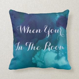 Reversible Blue Marble Decorative Pillow