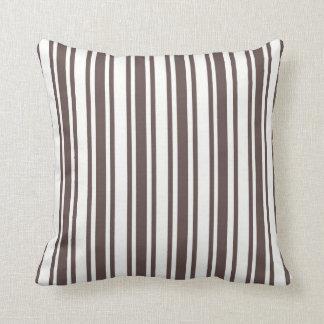 Reversible Chocolate  Designer Stripe Pillow