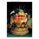 Reversible Head With Basket of Fruit 1590 - Arcimb Cards