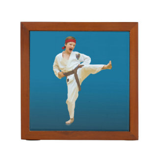 Reversible Karate and Ballet Images Desk Organiser