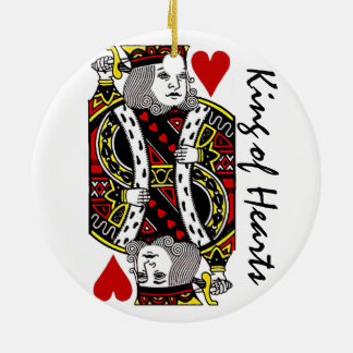 Reversible King of Hearts Ornament